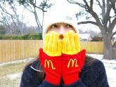 Promotional Gloves by McDonald's Look Like Chips! #CleverPromoGifts