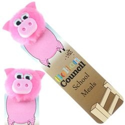 Pig Logo Bug Bookmark