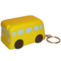 Yellow Bus Keyring Stress Toy