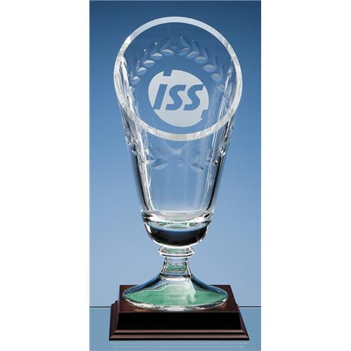 29cm Crystal Laurel Vase