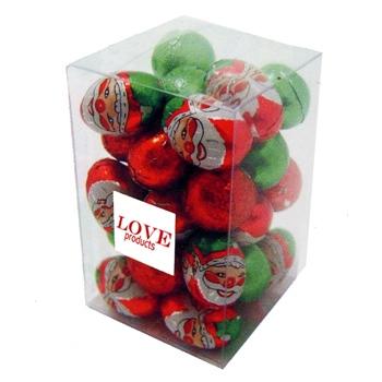 Santa Chocolate Balls in a Box