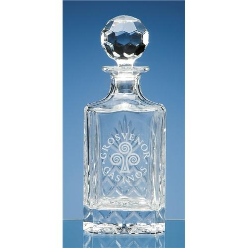 Gallery Lead Crystal Square Spirit Decanter