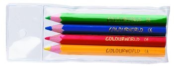 Colourworld Half Pencils Wallet 4