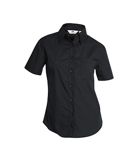 Ladies Poplin Shirt Short Sleeved