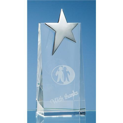 17.5cm Optic Rectangle with Silver Star