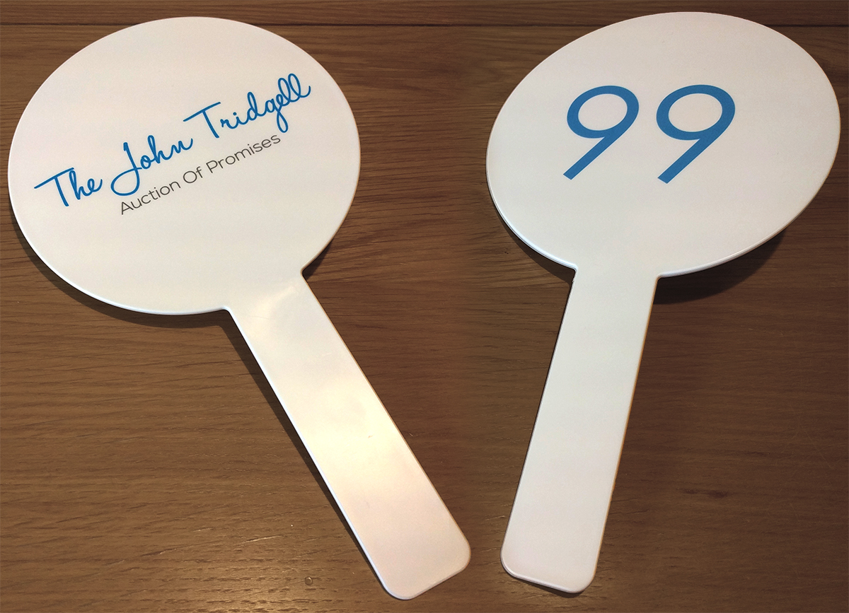Printed Auction Paddles