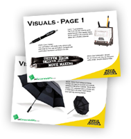 Request Promotional Items Visuals
